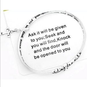 """Bible message bracelet """"seek and you shall find"""""""